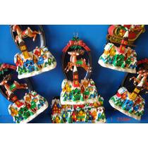 Ornamento Eletronico Musical Papai Noel E Renas Importado