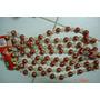 04 Cordoes Guirlandas Porcelana Chinesa Vermelhas E Douradas