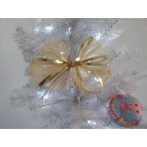 Laço De Natal Dourado Duplo (17cm - 30unidades)