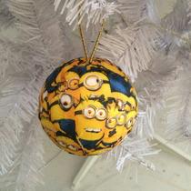 Bola De Natal 8cm Minions Pague 10 Leve 12
