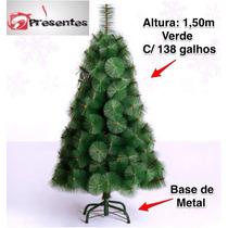 Árvore De Natal Pinheiro Luxo Verde 1,50m C/138 Galhos