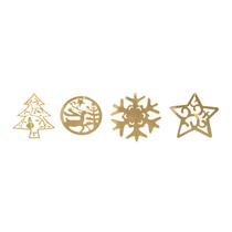 Enfeite Árvore Ouro Espelhado 10 Unidades Natália Christmas