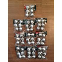 Bola Metalizada 30mm Prata - 10 Pacotes - Natália Christmas