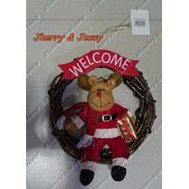 Guirlanda-de-natal-rena-decoracao-natalina Luxuosa Welcome