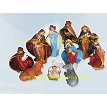 Presépio Natal Tradicional 12 Peças Escultura De Até 20cm
