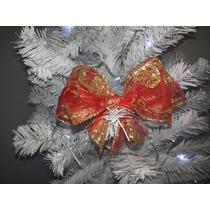 Laço De Natal Dourado E Vermelho Duplo (17cm- 30 Unidades)
