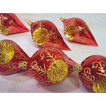 Enfeite Arvore De Natal Em Vidro, Pingente Refletor Vermelho