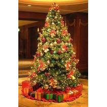Árvore De Natal Verde Decorada 1,20m Com Pisca Led 127v