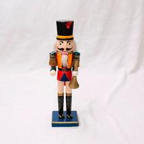 Boneco Quebra Nozes Esculpido Em Madeira 36cm Importado Usa