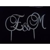 Letras E Iniciais Em Acrílico Espelhado Para Topo De Bolo