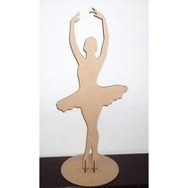 Bailarina 1 Metro Mdf Decoração Mesa Festa 15 Anos Debutante
