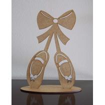 5 Sapatilhas Bailarina Mdf Lembrancinha 15 Anos Aniversario