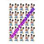 Mickey Baby - Papel Arroz Cupcake Com 25 Desenhos Na Folha