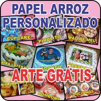 Papel Arroz Personalizado C/ Foto E Tema - Arte Grátis