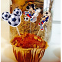 50 Toppers Mickey Futebol, Festa De 1 Ano Mickey, Futebol