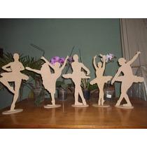 Kit 5 Bailarinas 50cm Mdf 6mm Decoração Festa 15 Anos