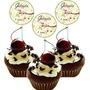 50 Topper Toten Topo P/ Doces Docinhos Cupcake Aniversario