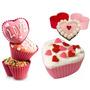 Kit De Formas De Silicone Para Cupcake Formato De Coração