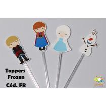 Mini Totens Toppers Personalizados - Frozen - 50 Uni