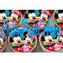 Mickey E Minie Papel Arroz Cupcake Com 40 Unidades 3,5 Cm