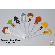 Mini Totens Toppers Personalizados - Star Wars - 100 Uni
