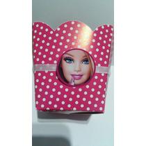 Kit Barbie Cachepot Porta Docinho E Topper