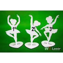 Kit 50 Bailarinas Mdf Branco 15cm Lembrancinhas Decoração
