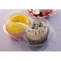 Embalagem Caixa Para Dois Cupcakes ( 50 Unidades )