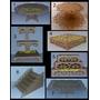 Kit Bandejas Provençal Margaridas Mdf Porta Doces Cupcake 7