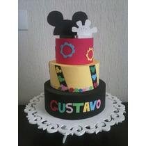 Bolo Falso/ Cenográfico Infantil - Bolo Tema Mickey