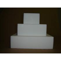 Bolo Em Isopor Quadrado - Bases Em Isopor Quadrado