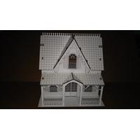 Casa De Bonecas Em Mdf 3mm - 32x32x21cm