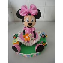 Topo De Bolo Minnie Festa Infantil Enfeite De Bolo