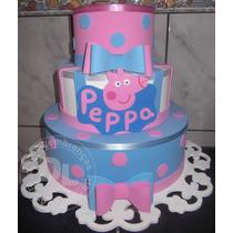 Bolo Cenográfico Da Peppa Pig