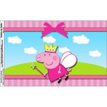Painel Peppa Pig Princesa Rainha D Fadas Novo C/ Ilhós Fosco