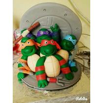 Tartarugas Ninjas Topo De Bolo Biscuit