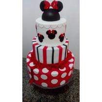 Bolo Cenográfico Da Minnie, Mickey