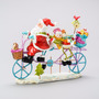 Enfeite Mesa Decoração Natal Papai Noel Na Bike- L3013