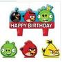 Vela De Aniversário Angry Birds 04peças No Pacote R$39,90