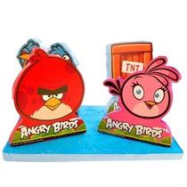 Enfeite Para Mesa Ou Bolo Em Isopor Angry Birds
