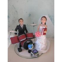 Casal De Noivos Em Biscuit, Topo De Bolo,noivinhos Casamento