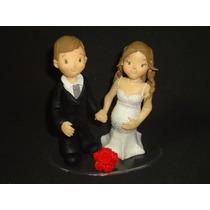 Topo De Bolo Casamento Noivado Biscuit Agora 10cm