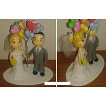 Noivinhos Topo Bolo Biscuit Personalizados Casamentos