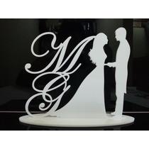 Topo De Bolo Acrílico Personalizado Casamento Noivado Noiva