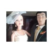 Noivinhos Topo De Bolo Noivos Personalizados Barbie E Ken