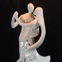 Noivinhos Topo De Bolo Porcelana - Casamento - Frete Grátis