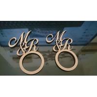 100 Argolas Porta Guardanapo Mdf Personalizado Casamento