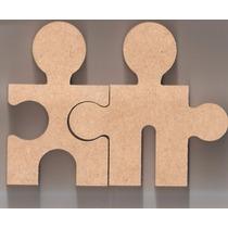 Casal Noivos Puzzle 15cm Mdf 18mm Casamento