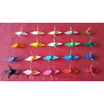 Origami Tsuru 100 Unidades 8cm ,enfeite Festa Lembrancinha