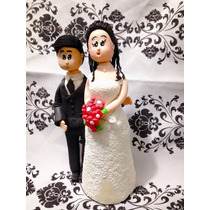 Noivinhos Topo De Bolo Biscuit Personalizado Casamento